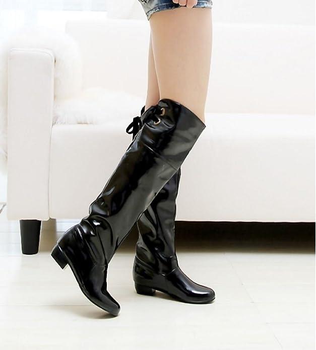 AicciAizzi Women Boots Hidden Heel Over Knee//Mid-Calf