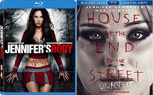 Jennifer's Body + House at the End of the Street Blu Ray 2 Pack Drama Thriller Horror Movie Jennifer Lawrence - Riding Red Seyfried In Hood Amanda