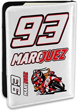 マルク・マルケス MotoGP バイク王 パスポートケース メンズ 男女兼用 パスポートカバー パスポート用カバー パスポートバッグ ポーチ 6.5インチ高級PUレザー 三つのカードケース 家族 国内海外旅行用品 多機能