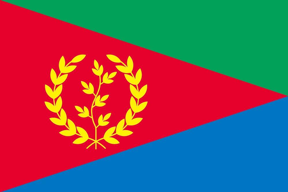公式の  世界の国旗 エリトリア 国旗 B0090ZZAWE [100×150cm 高級テトロン製] B0090ZZAWE, はかりん坊将軍:883d2f42 --- vietnox.com