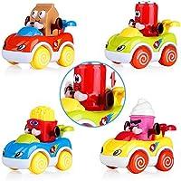 4 Piece VATOS Toddler Friction Powered Cars Toys