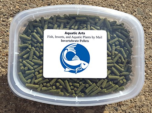Aquatic Arts Sinking Pellets (.5 lb) Spirulina Food for Freshwater Invertebrates (Crayfish, Crabs, Shrimp, Snails), Fish (Cichlid, Tetra) and more Brine Shrimp Algae
