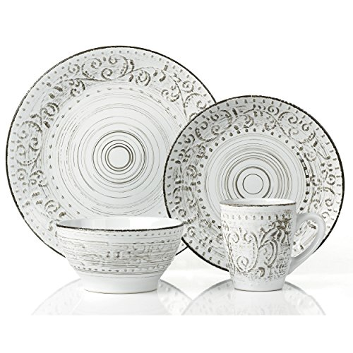 Casual Dinnerware Sets Dishes Service For 4 Everyday Rustic