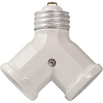 leviton r w pack watt twin light socket adapter leviton r52 00128 w 24 pack 660 watt twin light socket adapter