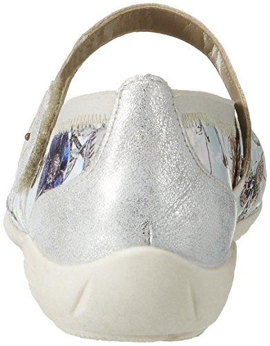 Remonte D4632, Bailarinas para Mujer Multicolor (Offwhite-metallic/ice/argento/90)