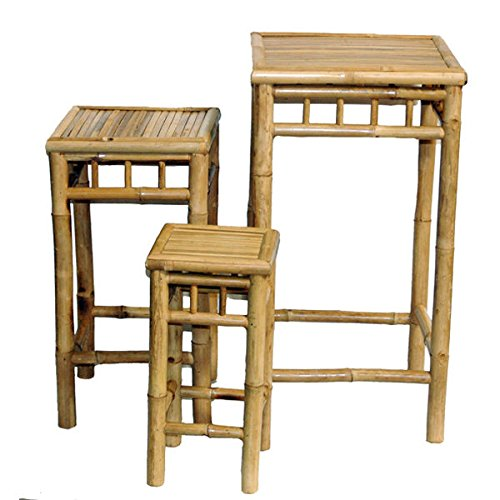Metro Shop Set of 3 Nesting Bamboo End Tables (Vietnam) by Metro Shop Home Decor