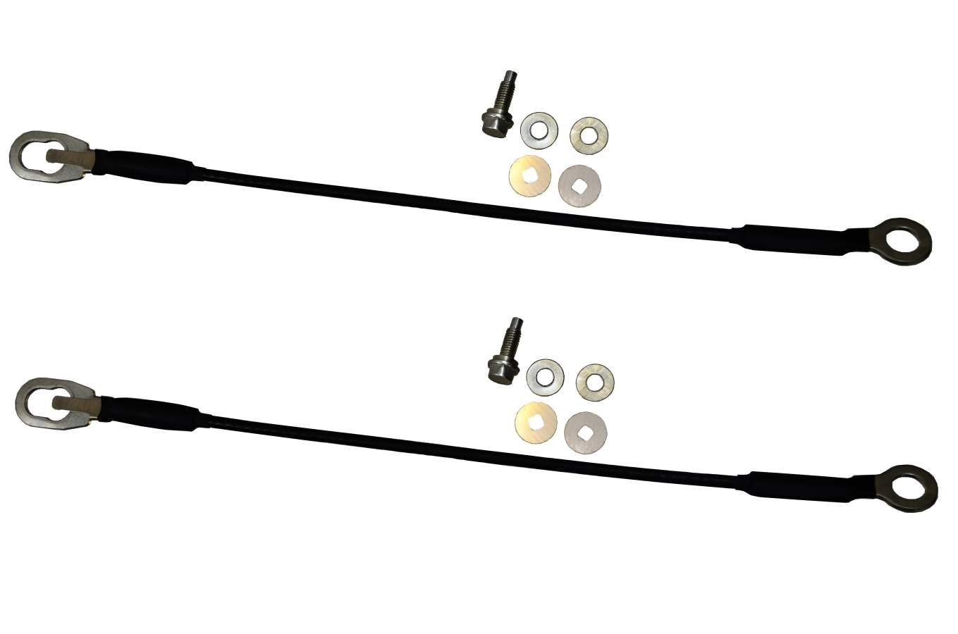PT Auto Warehouse TC-NI004-P - Tailgate Lift Support Cable - Length 16 3/4 Inch, Left/Right Pair
