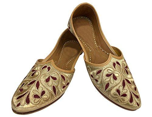 Trinn N Stil Maharaja Se Gamle Menns Sko Khussa Mojari Punjabi Jutti Etnisk  Hobo ...