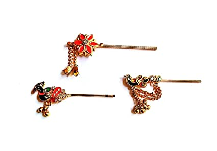 Laddu Gopal Bansuri Peacock Design Metal Look Small Size kanha ji