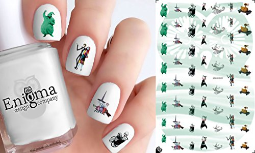 The Nightmare before Christmas Halloween Town Accessories (Clear Water-Slide Nail Decals) -