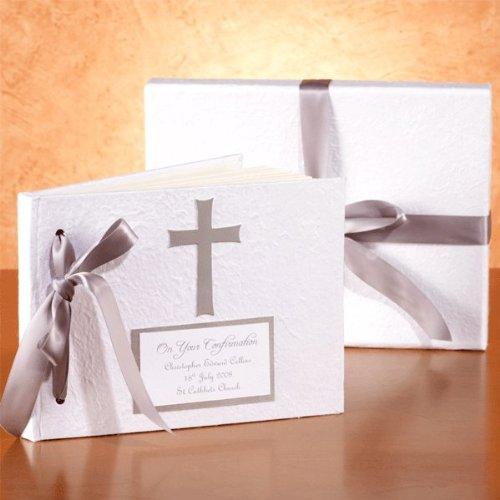 Personalised Baby Photo Album Cross Baby Album 4x6 Christening Holy Communion