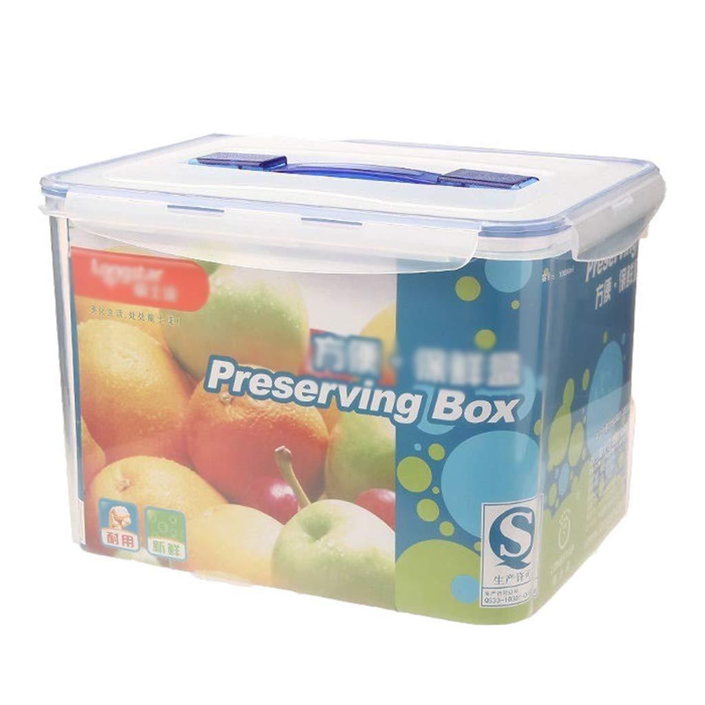 Caja De Almacenamiento De Alimentos Caja Sellada Refrigerador Caja De Almacenamiento De Plástico Rectangular De 10L con Asa Y Placa De Drenaje Recipiente Transparente: Amazon.es: Hogar