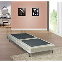 Mattress Solution, 4-inch/Low Profile Split Box Spring/Foundation for Mattress |Twin Size|