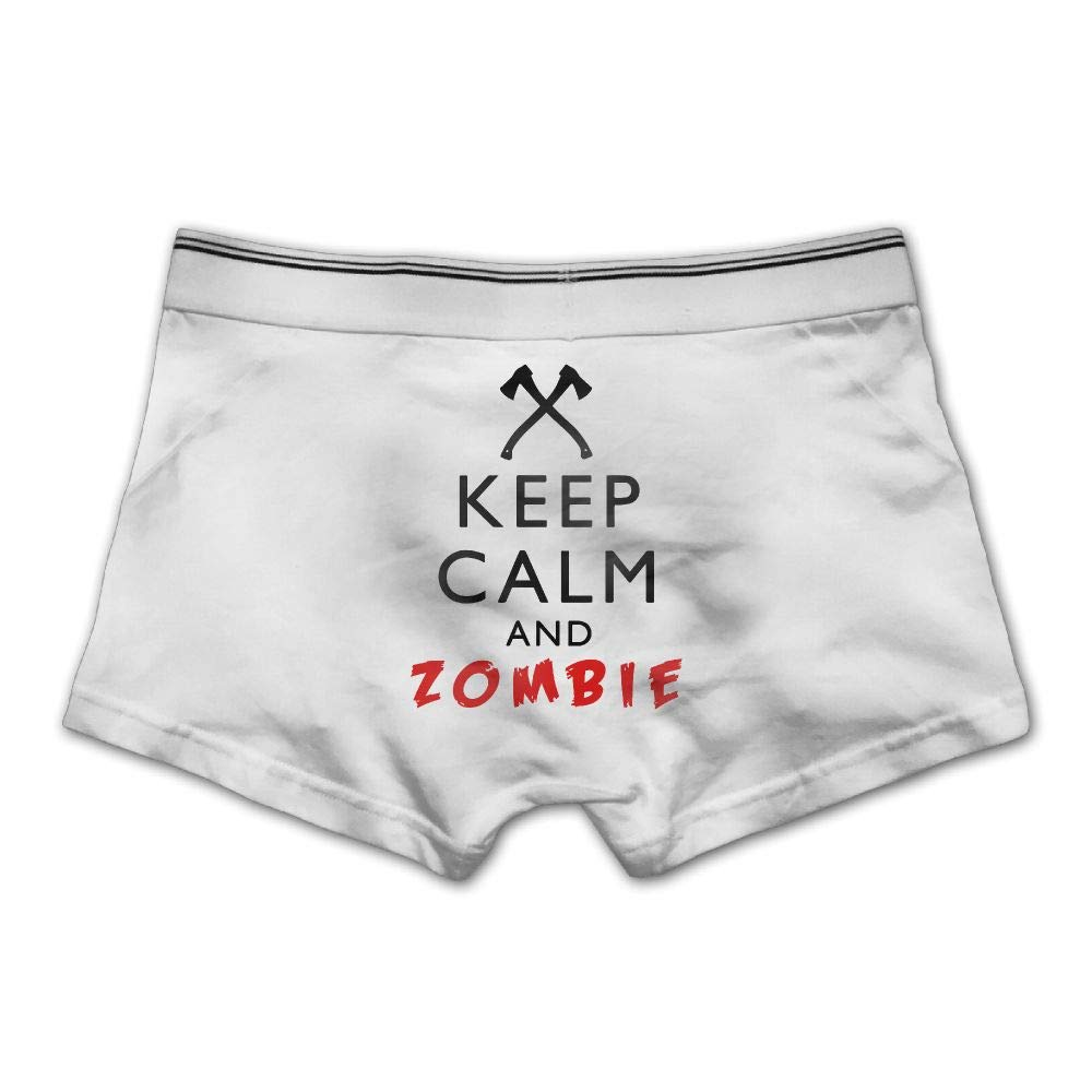 Pmftryuer Mens Boxer Briefs Underwear Keep Calm and Zombie Printed Underpants,M//L//XL//XXL//3X