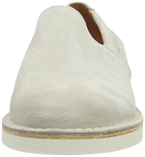 Shabbies Amsterdam Shabbies Slipper Velourleder, Mocasines para Mujer Blanco (Off White)