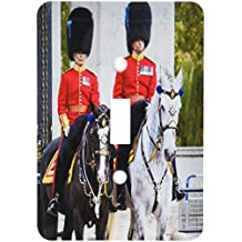 3dRose lsp_209082_1 Mounted Royal Guard at Buckingham Palace, London, England, Up Single Toggle Switch