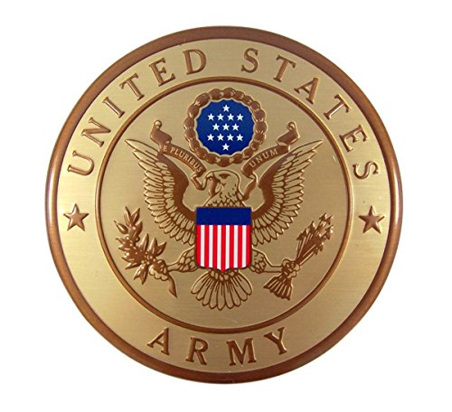 United States Military Army Metal Auto Decal Emblem, 4 Inch - United States Army Emblem