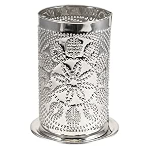 Amazon Com Punched Tin Candle Shade Big Daddy Hex Pattern
