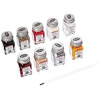 Juego de pintura para esmalte Testors 9120 Auto Detail, botellas de .25 oz