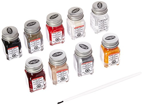 Testors 9120 Auto Detail Enamel Paint Set, .25 oz bottles