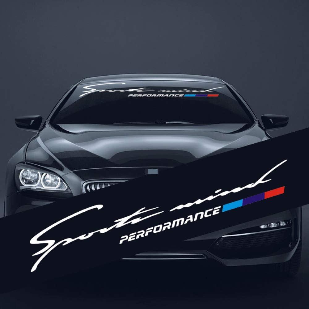 ZYHZJC 1 PCS Car Sunshade Sticker Car Windscreen Windshield Decals for BMW M E46 E60 E39 E70 E83 E85 E87 E90 F10 F20 F30 1 2 3 5 7