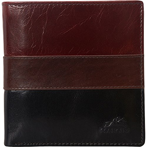 Mancini Leather Goods Nevada Collection: Mens RFID Center Wing Hipster (Collection Leather Hipster Wallet)