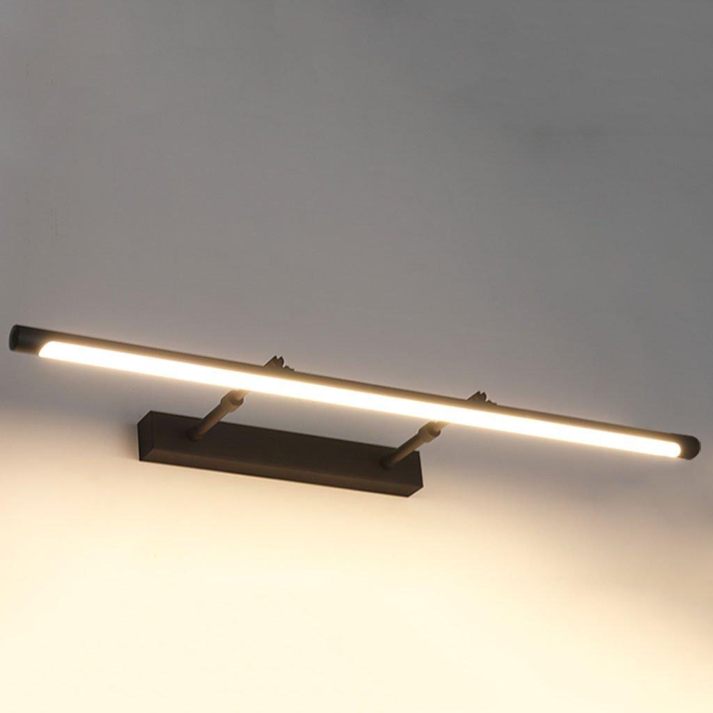 badezimmerlampe Schwarz Spiegel Scheinwerfer LED Teleskop Badspiegel Scheinwerfer Badezimmer Spiegelschrank Licht Badezimmer Schrank Spiegel Lampe (Farbe   Warmes Licht-62CM)