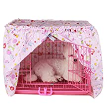 Alfie Pet by Petoga Couture - Cyrille Pet Crate Cover - Color: Pink, Size: XS