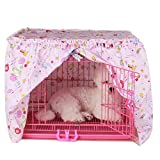 Alfie Pet by Petoga Couture - Cyrille Pet Crate Cover - Color: Pink, Size: Small