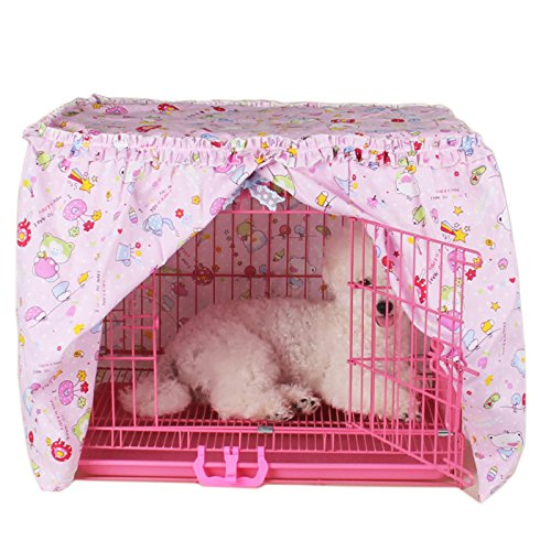 Alfie Pet by Petoga Couture - Cyrille Pet Crate Cover - Color: Pink, Size: Medium by Alfie