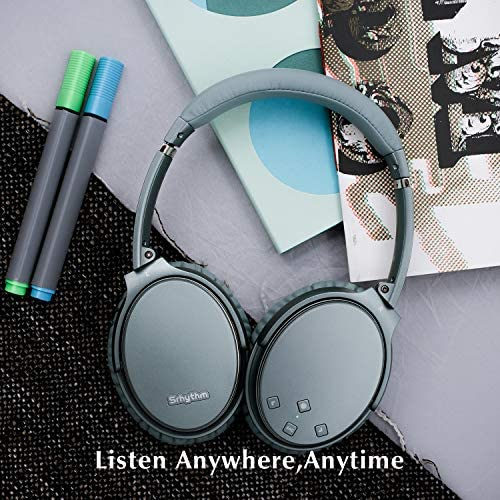 Noise Cancelling Headphones Wireless Bluetooth 5.0,Fast Charge Over-Ear Lightweight Srhythm NC35 Headset with Microphones,Mega Bass 40+ Hours' Playtime -Low Latency 5149fzF4CzL