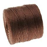 superlon cord - BeadSmith Super-Lon Cord - Size #18 Twisted Nylon - Brown / 77 Yard Spool