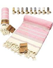 DEMMEX Certified 100% Organic Cotton & Organic Dye Prewashed XL Diamond Weave Turkish Cotton Towel Peshtemal Blanket for Bath,Beach,Pool,SPA,Gym, 71x36 Inches