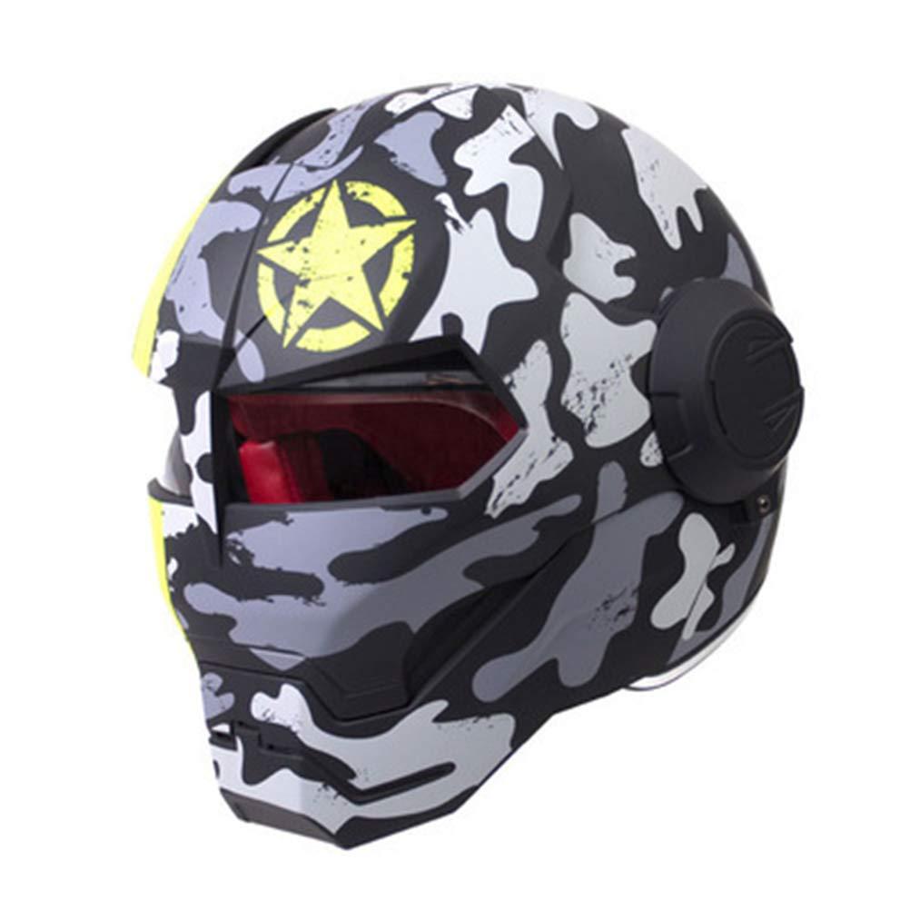 オートバイヘルメット オフロードオートバイレーシングヘルメット フルフェイスダンピング 耐久性 モータースポーツヘルメット 多色選択 快適 B07QXRZT53 Large|カラー7 カラー7 Large