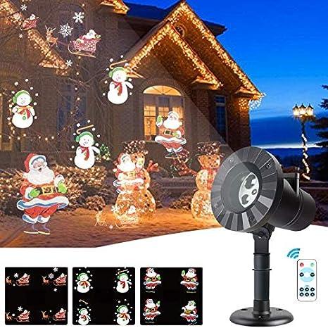 Amazon.com: Proyector de luces de Navidad - 3 patrones LED ...