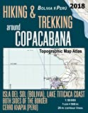 Hiking & Trekking around Copacabana Isla del Sol (Bolivia), Lake Titicaca Coast Both Sides of the Border, Cerro Khapia (Peru) Topographic Map Atlas ... (Travel Guide Hiking Trail Maps Bolivia Peru)