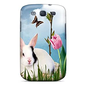 OrangeColor Perfect Tpu Case For Galaxy S3/ Anti-scratch Protector Case (spring Bunnies)
