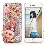 i phone 5 case gems - iPhone SE Case,iPhone 5S/5 Case - Mavis's Diary 3D Handmade Bling Crytal Luxury Series Cute Pumpkin Car Golden Crown Pink Flower Dancing Girl Shiny Heart Rhinestone Diamonds Clear Hard Cover