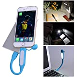 Laptop USB Light For Reading - Keyboard Light for Laptop with Charging Port Compatible iPad iPhone 5/5C/5S/6/6 Plus - Best USB Computer Led Light - Mosquito Repellent Lights - Lifetime Warranty! (Blue)