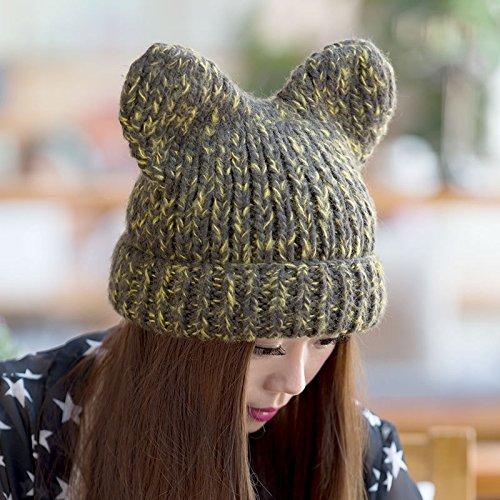 3 Lindo Maozi del 5 del Sombreros Gorros Mano Lana Hechos de Hop Grueso Hip Invierno señoras Coreano de Auge a Punto 6qgRnqHX