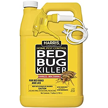 Harris Bed Bug Killer, Liquid Spray with Odorless and Non-Staining Extended Residual Kill Formula (1 Gallon)