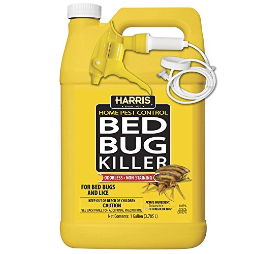 Treatment Bugs Bed Home (HARRIS Bed Bug Killer, Liquid Spray with Odorless and Non-Staining Extended Residual Kill Formula (Gallon))