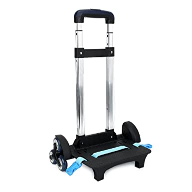 Backpack Trolley - Wheeled Trolley Hand Aluminium Alloy Non-folding Trolley Cart for Backpack (