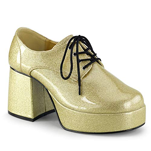 Platform Gold Shoes - Funtasma by Pleaser Men's Jazz-02 Platform Oxford,Gold Glitter,M (US Men's 10-11 M)