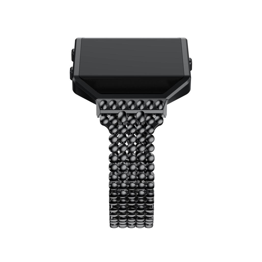 For Fitbit Blaze Bands, Gotd Luxury Alloy Watch Band Wrist Strap With Metal Frame For Fitbit Blaze, Large Small (Black) by Goodtrade8 (Image #5)