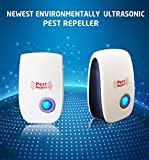 Premium Ultrasonic Pest Repeller,100% Safe Non-Toxic No Chemicals Cockroach Rodent Mosquito Fly Insect Electronic Pest Control Repellent for Factory Store Warehouse Indoor Garden Kitchen etc (1 piece)