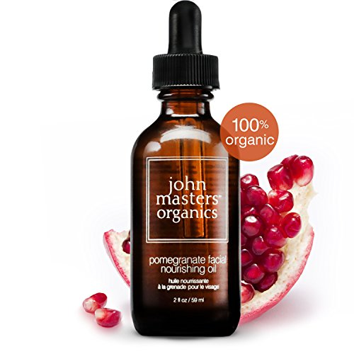 John Masters Organics - Pomegranate Facial Nourishing Oil - USDA Certified Organic Antioxidant Rich Face Moisturizing Formula with Essential Oils - 2 oz