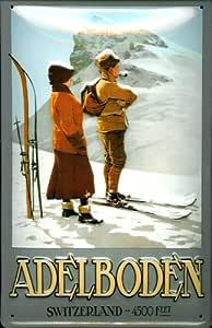 Cartel de Chapa Adel Suelo Switzerland Suiza Montañas de ...