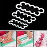 Product review for Lokman Set of 3 Small, Medium, Large Size The Easiest Rose Ever Cutters. Cake Decorating Gumpaste Flowers Rose Ever Small Cutter Cookie Cutters