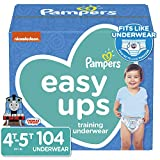 Pampers Easy Ups Pull On Disposable Potty Training Underwear for Boys, Size 6 ,4T-5T (104 Count), ONE MONTH SUPPLY